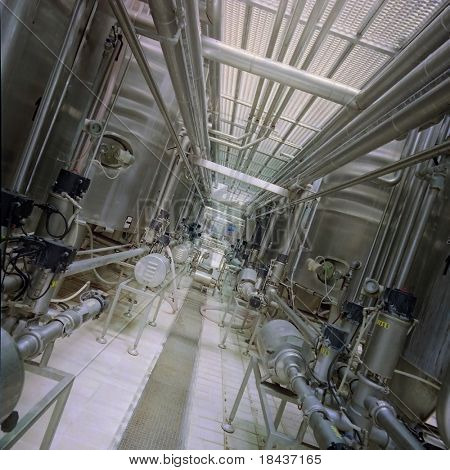 Industrial pipelines - internal of a chemical factory