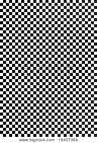 Black and white chequered