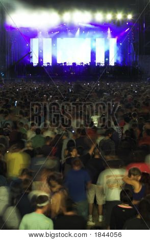 Crowd People On Big Music Concert