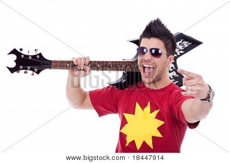 Attractive Male Guitarist