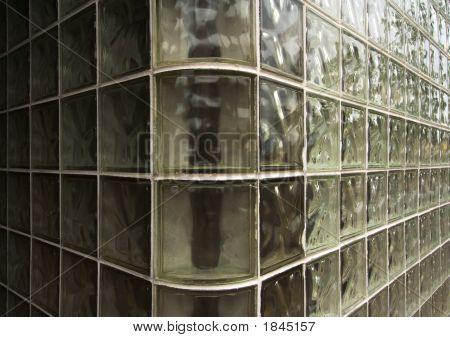 Abstract Glass Brick Wall