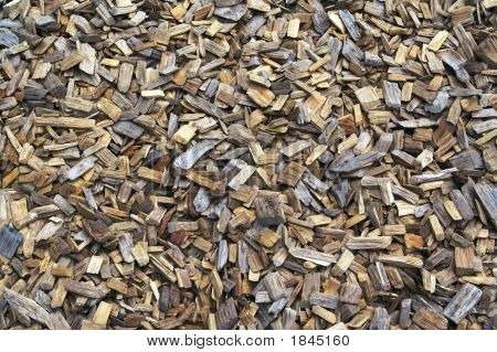 Background Of Landscaping Wood Chips