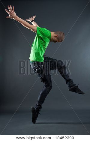 Hip-hop Style Dancer Posing