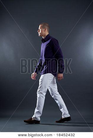 Fashion Man Walking