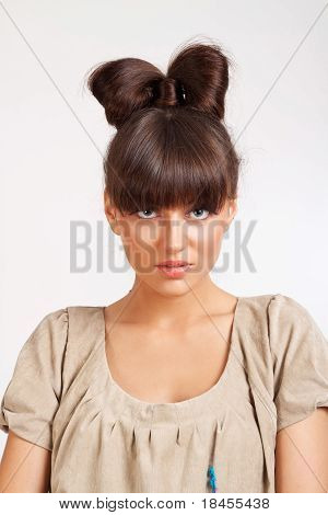 Elegant Girl With Nice Hairstyle