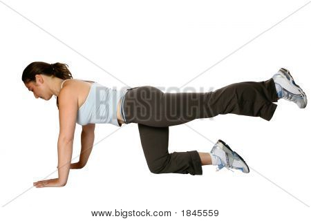 Fitness Trainer Doing Leg Raises
