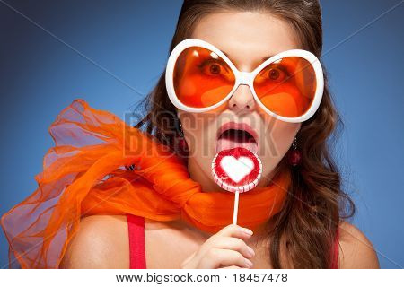 Licking Lollipop