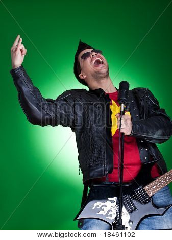 Young Guitarist Screaming