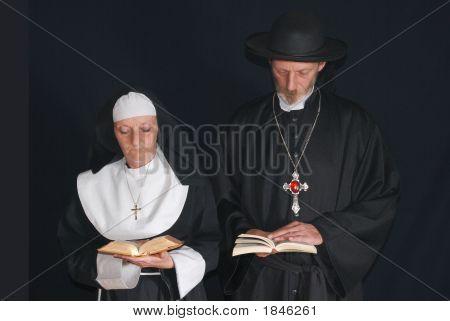 Praying Nun And Priest