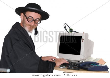 Priest On Computer
