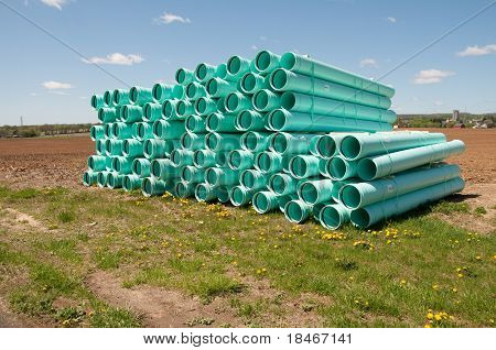 Pile Of Sewer Piping