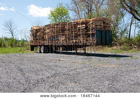 Wood Pallets On A Truck