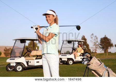 Pretty Woman Golfer