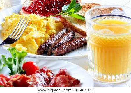 Frühstück-Teller
