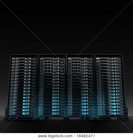 servers wireframe