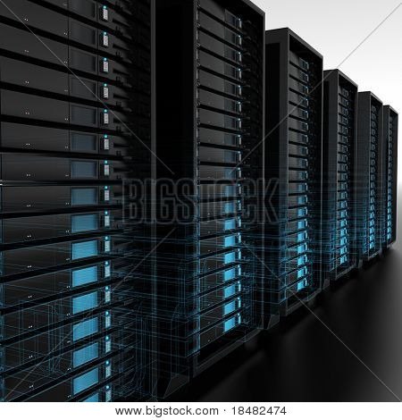 estructura metálica de servidores
