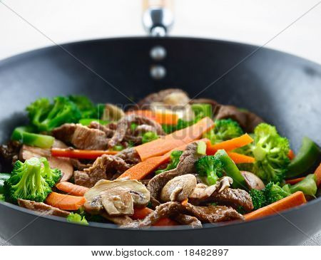 colorful stirfry closeup