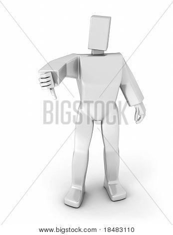 3D Man Thumb Down