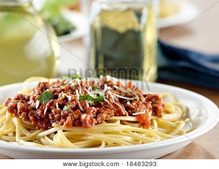 Cena de espagueti Italiano