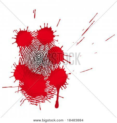blood-stained fingerprints