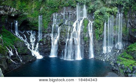 Waterfalls of the Reunion island