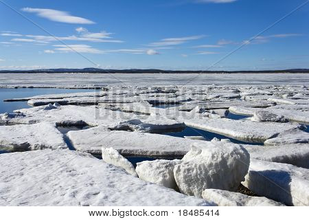 Drifting of ice