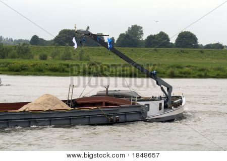 Sand Transportation Boat