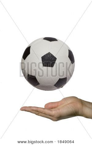 Showing A Soccer Ball