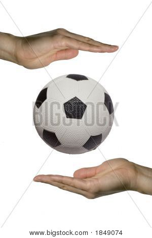 Holding The Soccer Ball