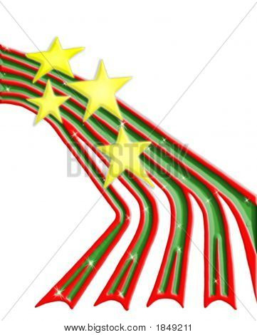 Christmas Stars & Ribbons