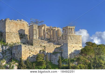 Acropolis In Athens,greece As Seen From Aeropagus (hill Of Ares)