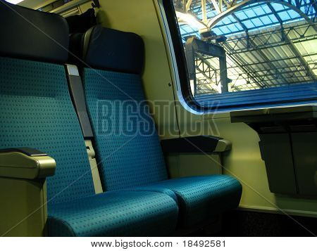 Two train seats