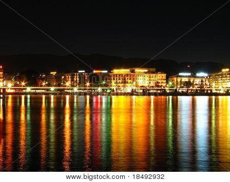 Night shot in a city