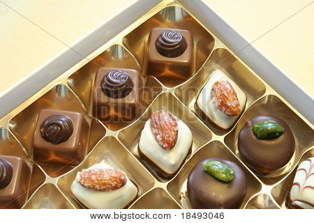 An array of chocolates.