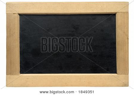 Empty Small Chalkboard W/ Path