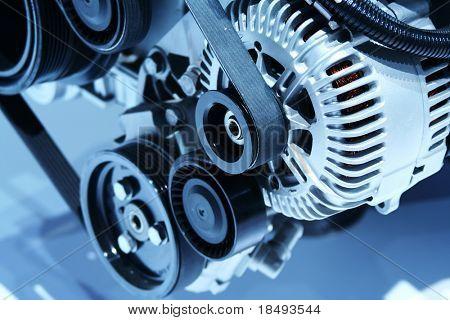 Closeup of an engine