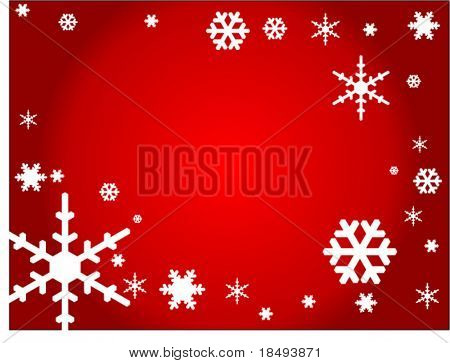 Vector Christmas background with snow flakes.