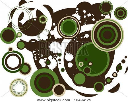 Retro vector rings with various harmonious color combo. For JPG version look for image 2356753.
