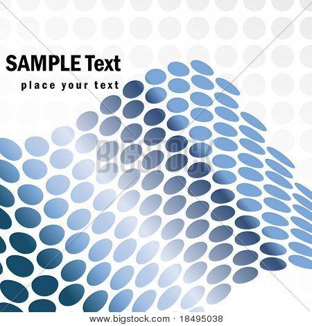 Vektor-metallischen retro Halbtonpunkte bilden eine Welle für die Hintergrund-Verwendung.