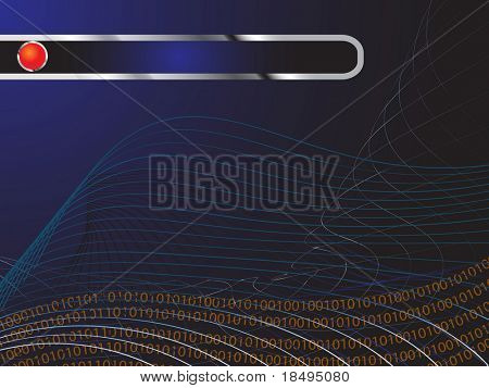 Vector - Digital image with technology background. Copy space for text.