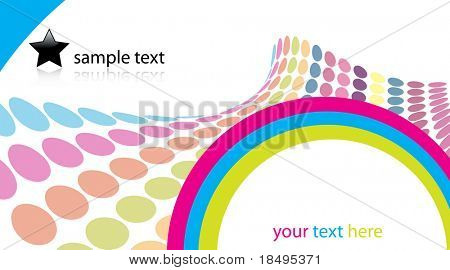 Vector - 3D Halftone colorful retro dots forming a wave for background use.
