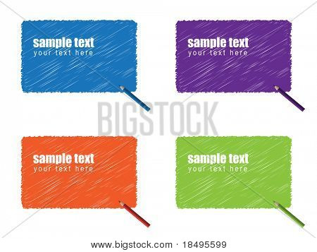Vector - Grunge scribble of a color pencil for text background.