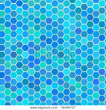 Vector - Illustration of a series of random blue seamless tiles with varying hue