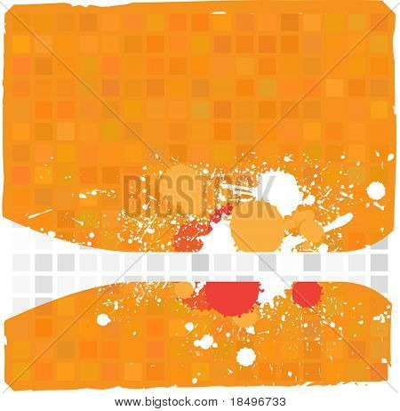 Vector - Illustration of a tiled background with messy grunge ink splat