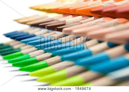 Various Colored Crayons