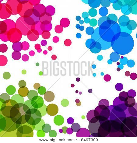 Vector - Illustration of colorful retro circles or bubbles with space for text