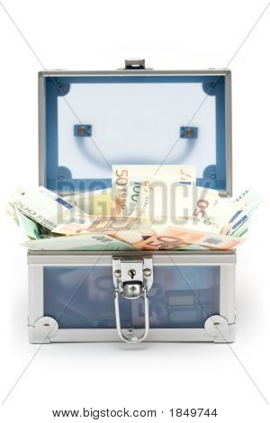 Open Blue Money Chest