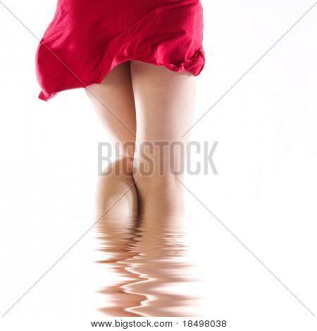 Red dress flick