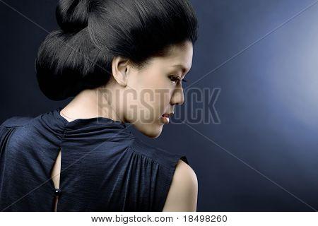 Studio fashion shot of Asian woman