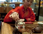 chinese tea ceremony girl